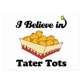 i believe in tater tots postcard