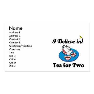 i believe in tea for two Double-Sided standard business cards (Pack of 100)