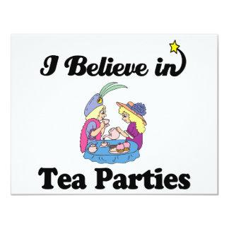 i believe in tea parties card
