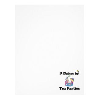 i believe in tea parties letterhead