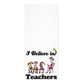 i believe in teachers custom rack card