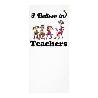 i believe in teachers personalized rack card