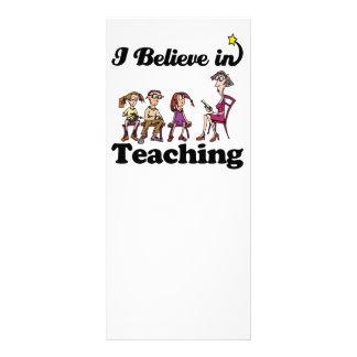 i believe in teaching customized rack card