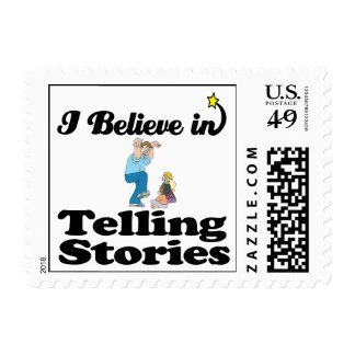 i believe in telling stories postage stamps