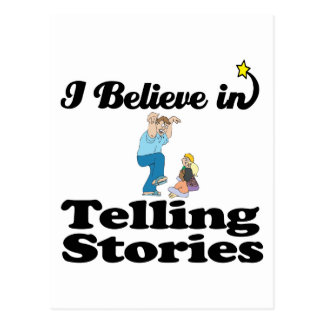 i believe in telling stories postcard