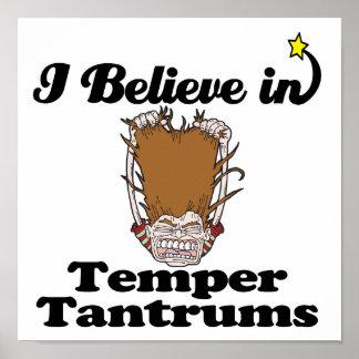 i believe in temper tantrums poster