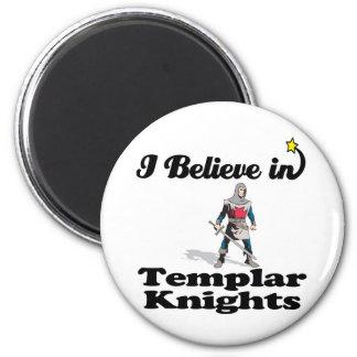 i believe in templar knights 2 inch round magnet