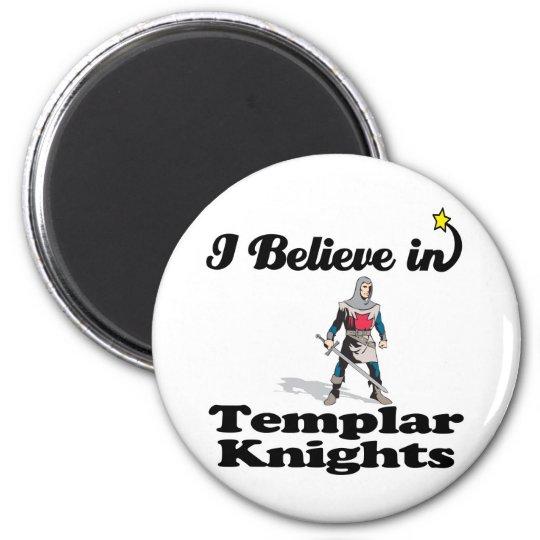 i believe in templar knights magnet