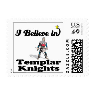i believe in templar knights postage stamps