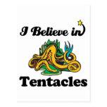 i believe in tentacles postcard
