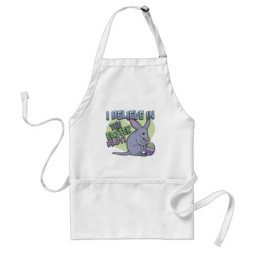 I Believe in the Easter Bilby Adult Apron