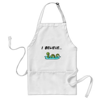 I Believe in the Loch Ness Monster Aprons