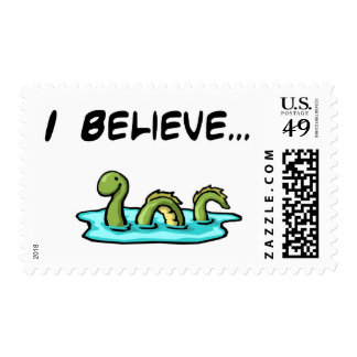 I Believe in the Loch Ness Monster Postage Stamp