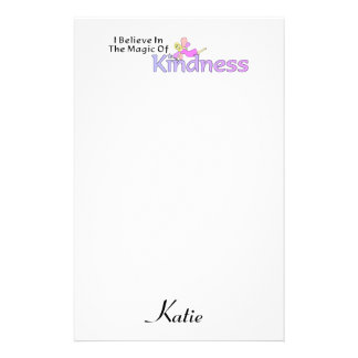 I Believe In The Magic Of Kindness Custom Customized Stationery