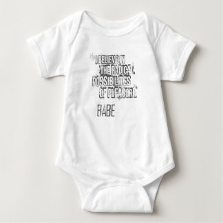 I believe in the radical possibilities of pleasure baby bodysuit