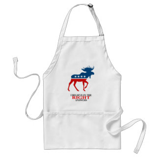 I believe in the Right Answers Adult Apron