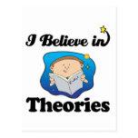 i believe in theories postcard