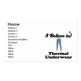 i believe in thermal underwear business cards