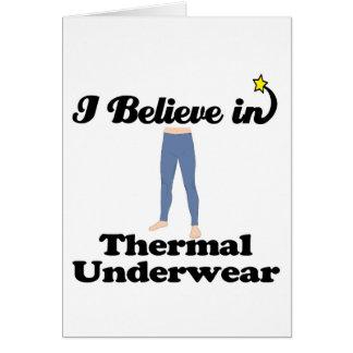 i believe in thermal underwear card