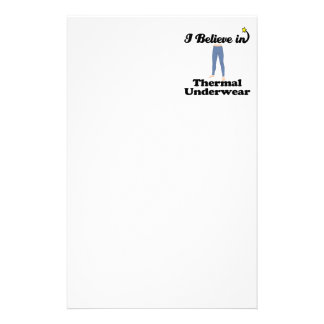 i believe in thermal underwear personalized stationery