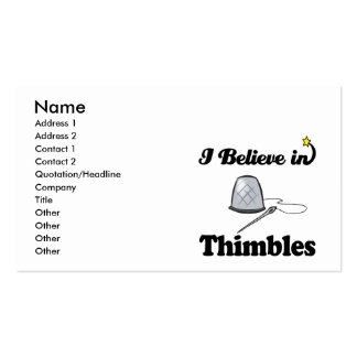 i believe in thimbles business card templates