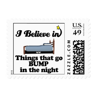 i believe in things that go bump in night postage