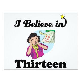 i believe in thirteen invite