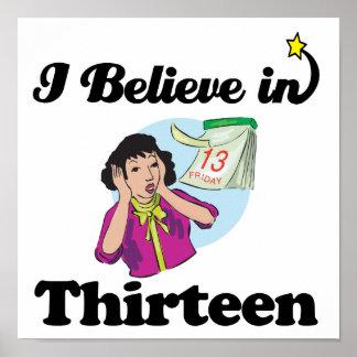 i believe in thirteen posters