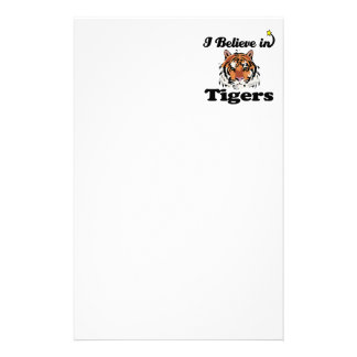 i believe in tigers stationery