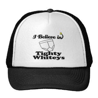 i believe in tighty whiteys trucker hat