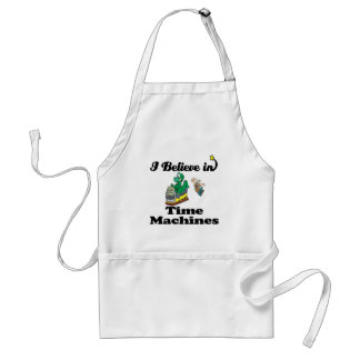 i believe in time machines adult apron