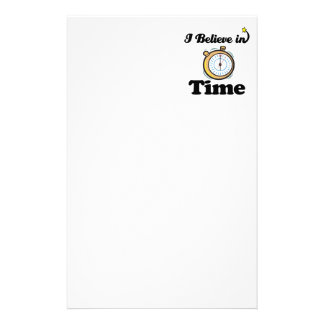i believe in time stationery