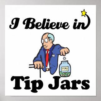 i believe in tip jars poster