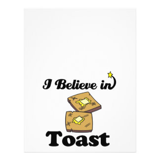i believe in toast personalized flyer