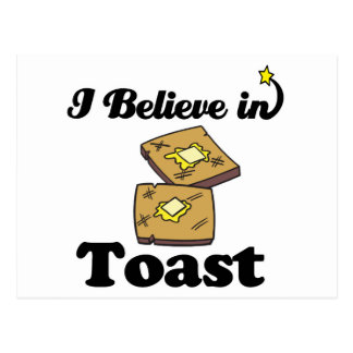 i believe in toast postcards