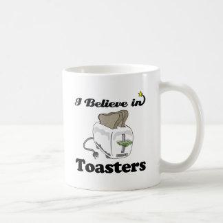 i believe in toasters coffee mug