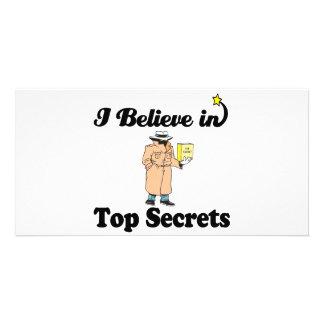 i believe in top secrets photo card