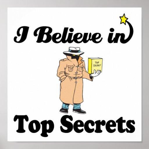 i believe in top secrets poster