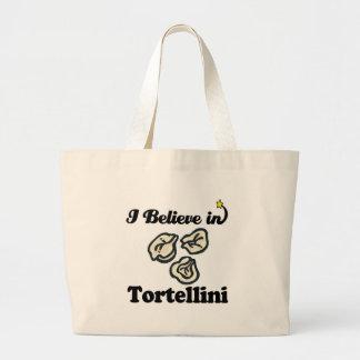 i believe in tortellini jumbo tote bag