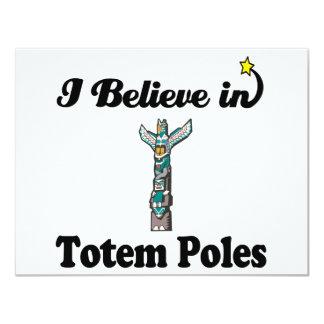 i believe in totem poles card