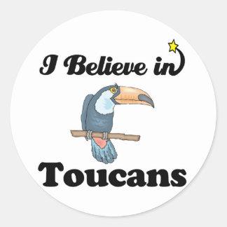 i believe in toucans stickers