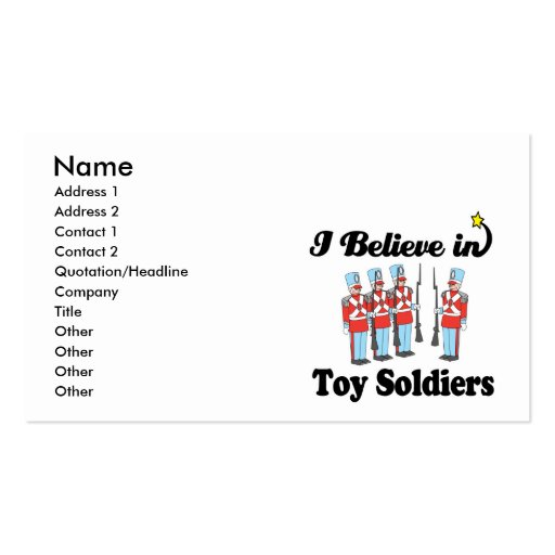 i believe in toy soldiers Double-Sided standard business cards (Pack of 100)