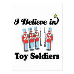 i believe in toy soldiers postcard