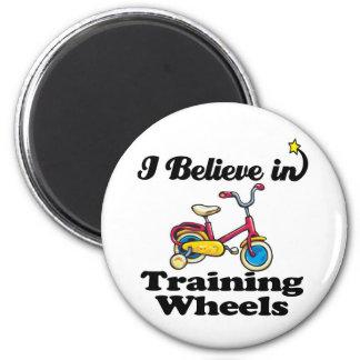 i believe in training wheels magnet