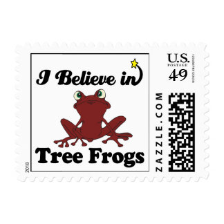 i believe in tree frogs stamp