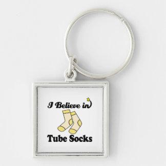 i believe in tube socks key chains