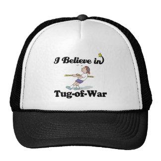 i believe in tug of war mesh hats