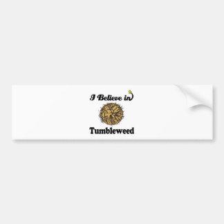 i believe in tumbleweed bumper sticker