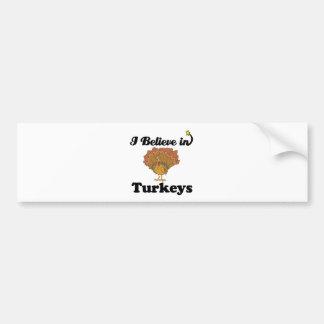 i believe in turkeys car bumper sticker