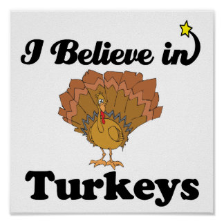 i believe in turkeys poster